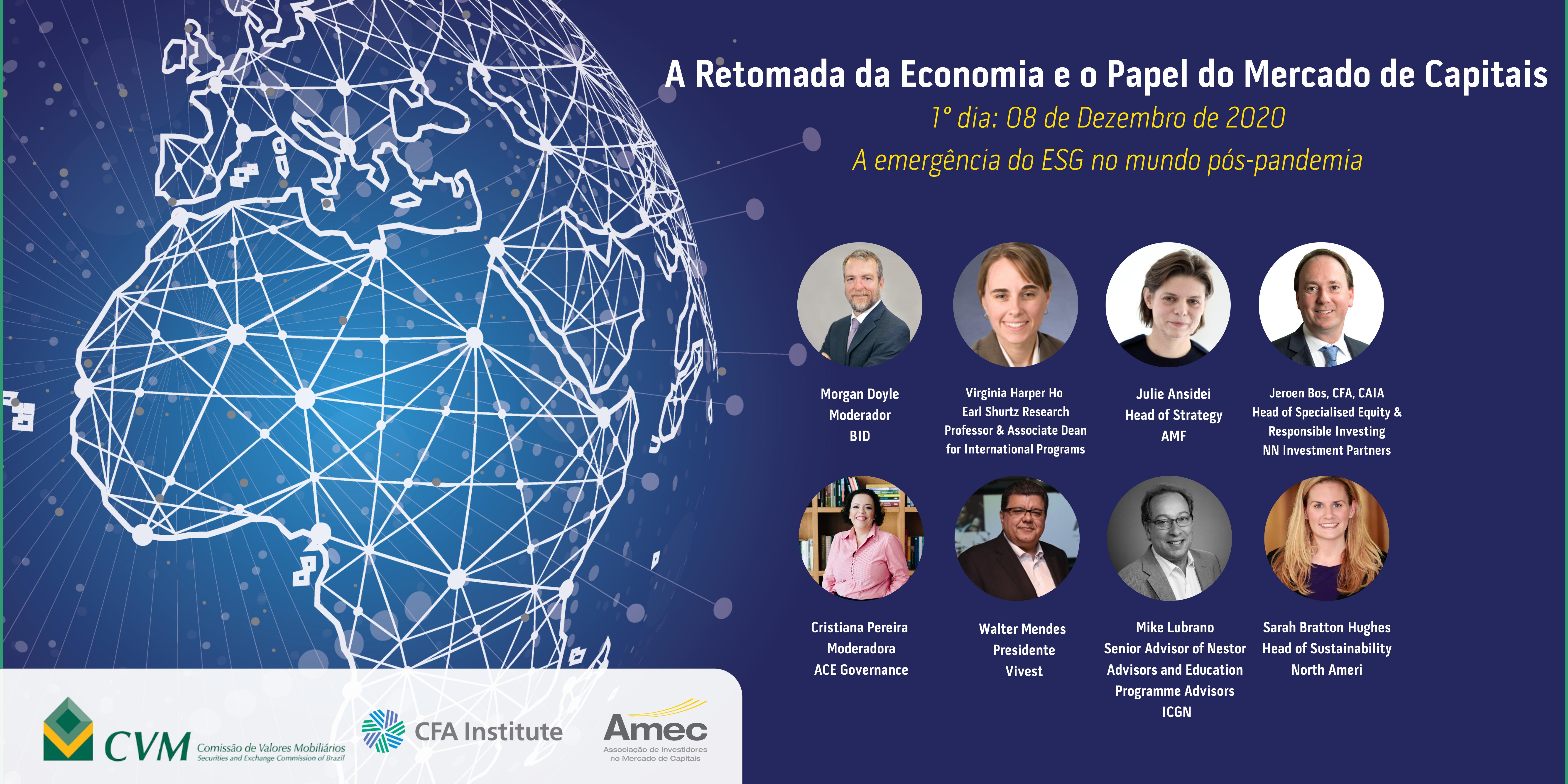 Agenda regulatória, enforcement e o futuro do mercado serão temas abordados no 3º dia do evento Amec em parceria com CVM e CFA